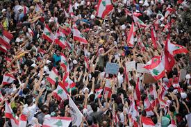 A million people flood the streets of Beirut, Lebanon for protests