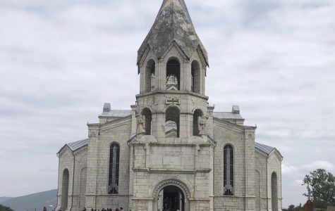 The Ghazanchetsots Cathedral in Shushi, Artsakh, also known as the Holy Savior Cathedral. Photo courtesy of Biana Gaboudian ('21).